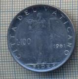 AX 1314 MONEDA - VATICAN -100 LIRE -ANUL 1961 -STAREA CARE SE VEDE, Asia