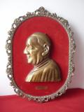 BASORELIEF DIN BRONZ PAPA GIOVANNI AL XXIII