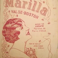MArilla valse Boston, musique par S. Serafim