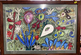 Cumpara ieftin Emil Pavelescu - Feerie cu fluturi , pastel pe carton, Abstract, Altul