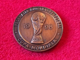 Medalie-placheta fotbal-FRF (Campionatul Mondial FRANTA 1998)