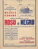 Afis formatia Rosu si Negru anii 1960 1970 perioada comunista