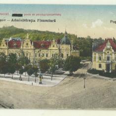 cp Brasov : Administratia Financiara - Posta, circulata 1927, timbre