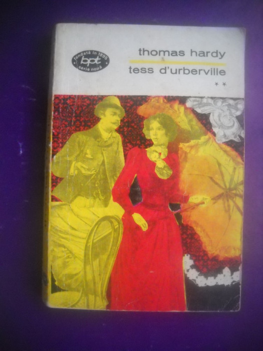 HOPCT  TESS D URBERVILLE / THOMAS HARDY- VOLUMUL 2 - 1972 / 300  PAGINI