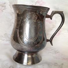 Cana vintage placata cu argint in strat gros