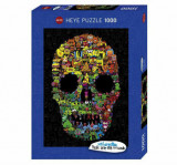 Cumpara ieftin Puzzle Heye Doodle Skull, 1000 piese