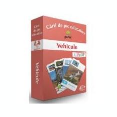 Carti de joc educative. Vehicule