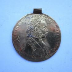 Jeton vechi / Medalie cu toarta: Franz Josef 1915. Tabla aurita