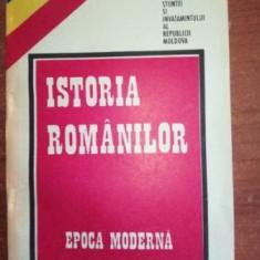 Istoria romanilor epoca moderna
