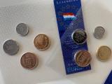 LUXEMBURG - 2 x Set Monede Pre Euro, UNC, folie originala, ani diversi, Europa