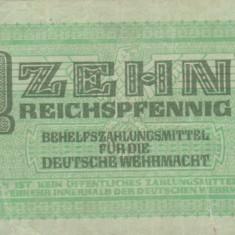 Germania  10 Reichspfennig - Wehrmacht  P-M34  VG