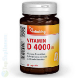 Cumpara ieftin Vitamina D3 Forte 4000UI 90cps. (imunitate, oase, muschi) Vitaking