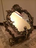 Eleganta oglinda rabatabila pentru noptiera din bronz masiv Baroc