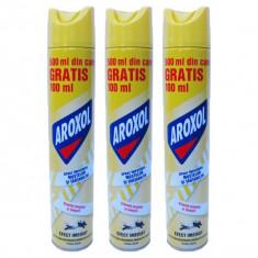 3 x Aroxol spray, Insecticid aerosol muste si tantari, 3 x 500ml