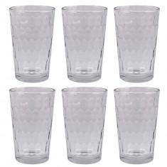 Set 6 pahare apa Roland, sticla, 200 ml, Transparente