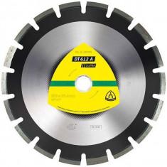 Klingspor - DT 612 A SUPRA - Disc diamantat de taiere segmentat, 350x25.4x3.2 mm, taiere uscata