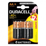 Set 6 baterii Duracell basic, tip AA