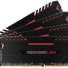 Memorii Corsair Vengeance LED Red DDR4, 4x8GB, 3000 MHz, CL 16