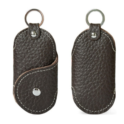 Husa portofel port chei cheie auto, piele naturala, maro, gd1011 foto