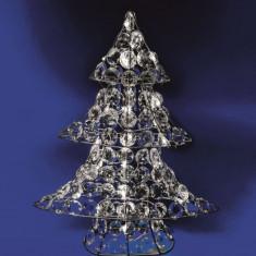 Figurina Brad luminos, 30 LED-uri, 46 cm, alimentare baterii, interior