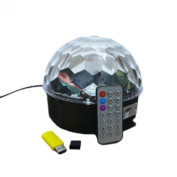 Glob lumini DISCO pentru petreceri SOUNDVOX, MP3 Player, Boxa, Telecomanda si Senzori Muzicali