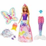 Jucarie Papusa Barbie Dreamtopia Fairytale Dress up Gift Set FMV91 Mattel