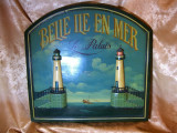 Placa tablou Art Deco in relief, pictat manual, colectie, vintage