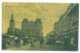 5139 - TIMISOARA, Market, Tramway, Romania - old postcard - used