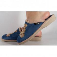 Papuci de casa albastri din plus (cod PATTY)