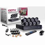 Kit de supraveghere AHD 8 camere, CCTV HDMI, infrarosu, vizualizare de pe internet, calculator, tableta sau smartphone