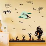 Cumpara ieftin Sticker decorativ Halloween pentru perete si fereastra Giftify Spooky House