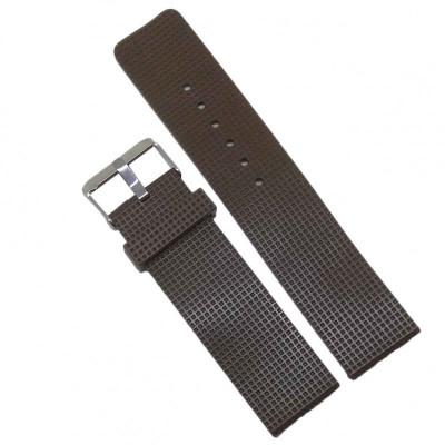 Curea ceas de silicon maro 22mm WZ528 foto
