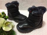 Bocanci inalti imblaniti negri pantofi iarna copii baieti fete 27 30