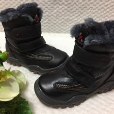 Bocanci inalti imblaniti negri pantofi iarna copii baieti fete 26 27 28 30, Unisex, Din imagine