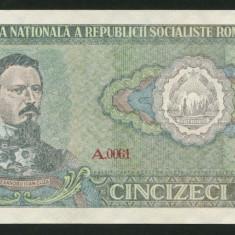 u265 ROMANIA 50 LEI 1966 UNC NECIRCULATA