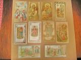 B878B-I-SANTINI-Lot 10 buc. Semne carte religioase vechi litografice anii 1900.