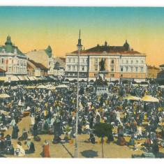 1941 - ARAD, Market, Romania - old postcard - unused - 1916, Necirculata, Printata
