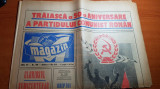 ziarul magazin 8 mai 1971 - 50 de ani de la crearea partidului comunist roman