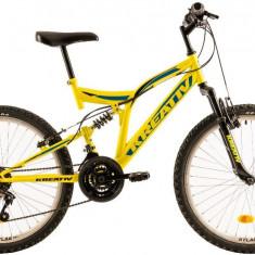 Bicicleta Copii Kreativ 2441 420Mm Galben Aprins 24 Inch