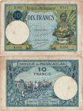 1937, 10 francs (P-36a.3) - Madagascar!