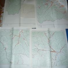 Set 18 Harti Cadastrale Judet SUCEAVA ,dim.=72x65cm buc ,pr.'70 ,ed.1982 RSR