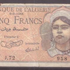 Tunisia 1944 - 5 francs