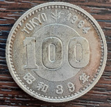 (A301) MONEDA DIN ARGINT JAPONIA - 100 YEN 1964, SHOWA, JOCURILE OLIMPICE TOKYO, Asia