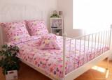 Cumpara ieftin Lenjerie de pat pentru o persoana cu husa de perna dreptunghiulara, Princess, bumbac satinat, gramaj tesatura 120 g mp, multicolor, 140x240 cm, Set complet, FIVE STORE