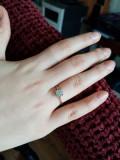 Inel de logodna cu diamante naturale marca Teilor (aur de 18K)