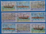 Sao Tome- Vapoare- 3 straifuri de 3 val.- stampilate