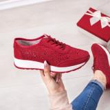 Pantofi Piele sport dama rosii Iamori-20-rl