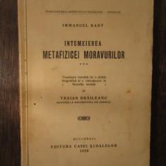 immanuel Kant - Intemeierea metafizicii moravurilor