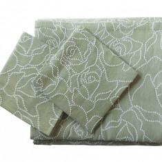 Set de cuverturi pentru canapea si fotolii , Dotty Olive