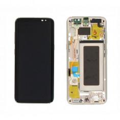 Display cu touchscreen si rama samsung galaxy s8 g950 gold original